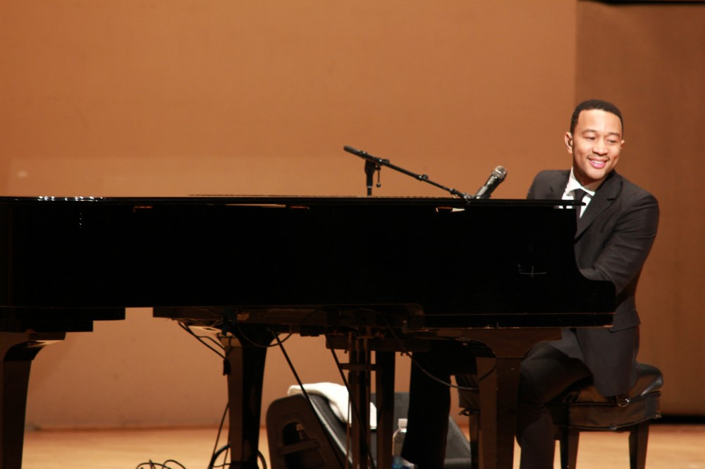 John Legend performs a crowd favorite during the Realizing the Dream Concert.