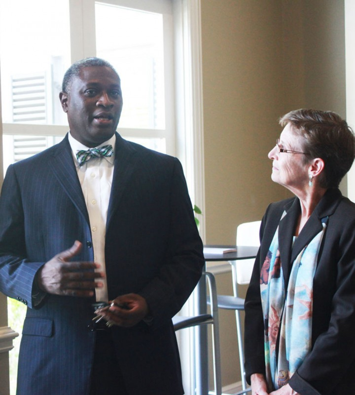 Dr. Samory T. Pruitt and Dr. Teresa Wise, director of the Capstone International Center discuss their partnership in the successful Fulbright advising initiative.