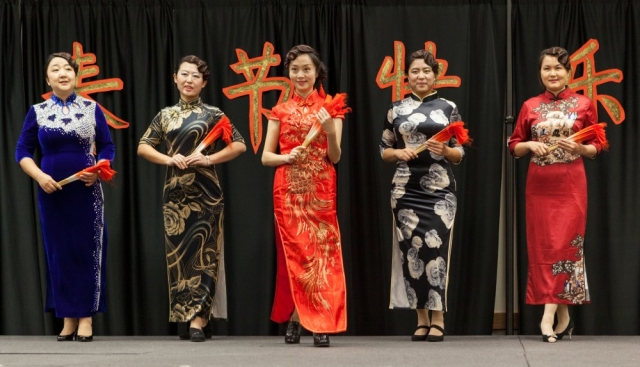 These women are taking part in the Qipao Fashion Walk.