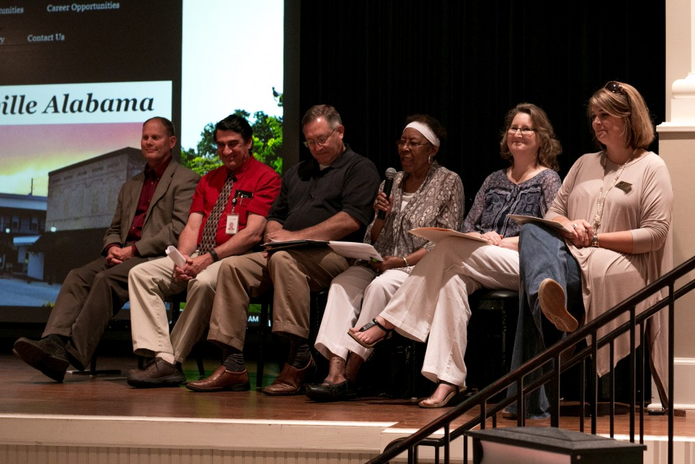 Thomasville panel members, from left to right, included Vik Adkison, Danny D'Andrea, Charles Shephard, Alberta Dixon, Martha Gramelspacher and Amy Prescot