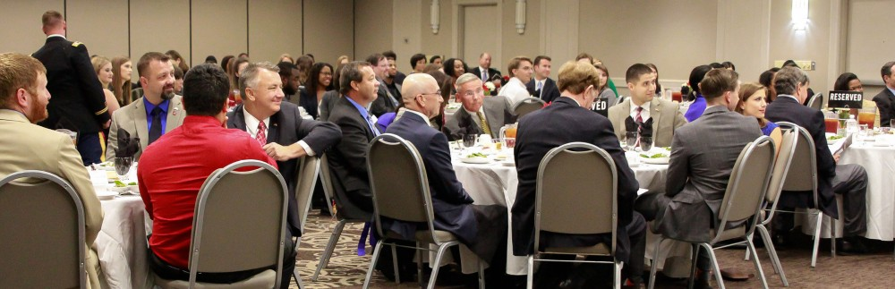 Board of Advisors and guests listen to reports from officers at the fall BOA meeting.