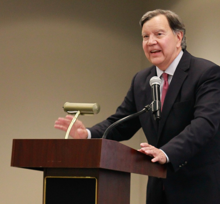 Guest speaker John Johns told BOA members to emphasize Alabama's strengths but never ignore its failures.