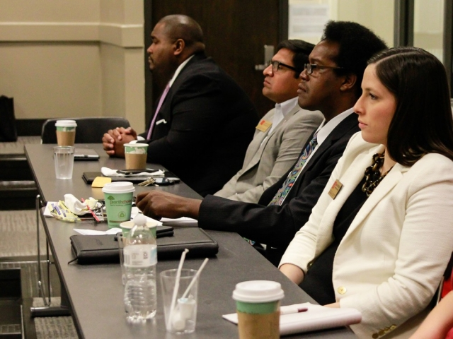 BOA members listen to UA diversity leader Dr. G. Christine Taylor.