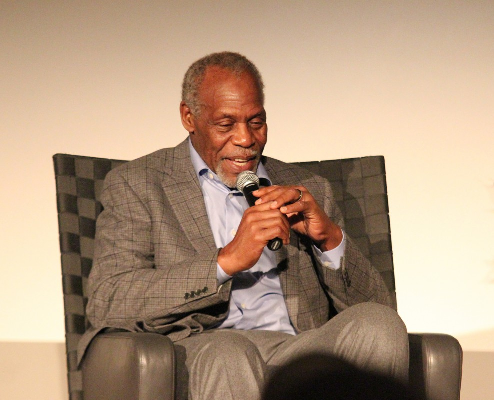 Actor Danny Glover keeps the crowd involved in reviewing his life in entertainment and human rights efforts.