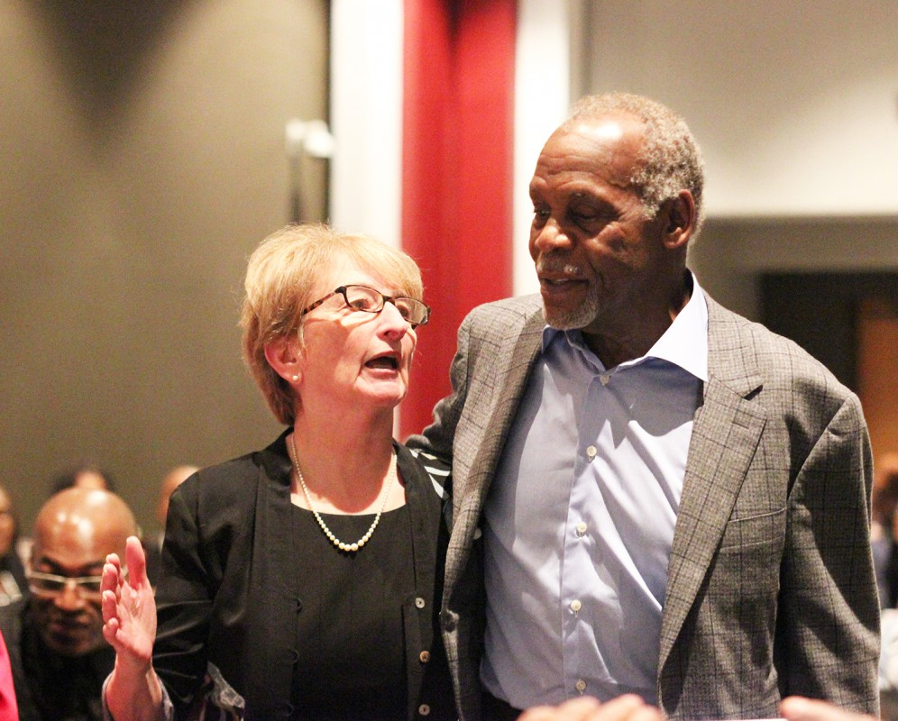 Danny Glover and Dr. Ellen Spears.