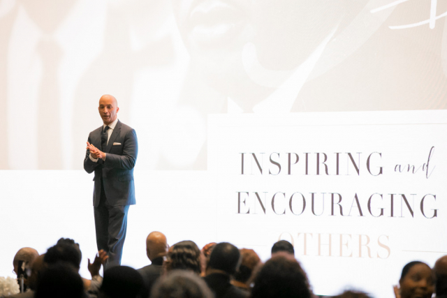 "Speaking from his vast experience as an international journalist, ABC's Byron Pitts received frequent applause and ""amens"" from the audience during the 2019 Realizing the Dream Legacy Banquet."