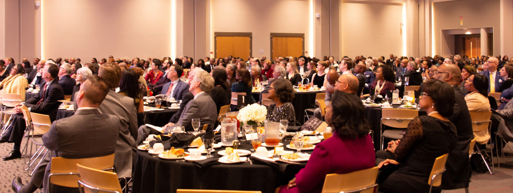 The 2020 Legacy Banquet, featuring TV correspondent Laura Ling, filled the Bryant Conference Center Sellers Auditorium.