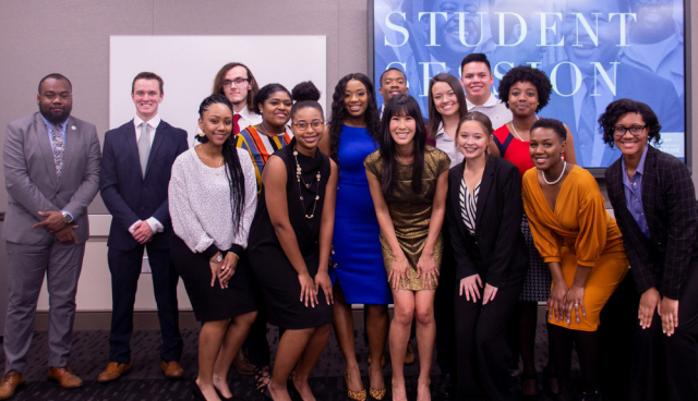 Laura Ling and student participants from UA, Stillman College and Shelton State Community College are shown in this group photo prior to the Legacy Banquet.